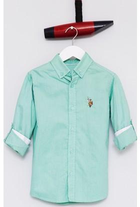 U.S. Polo Assn. Erkek Çocuk Cedcolorkids17Y Gömlek Yeşil