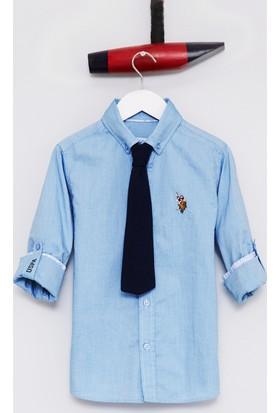 U.S. Polo Assn. Erkek Çocuk Cedcolorkids17Y Gömlek Mavi