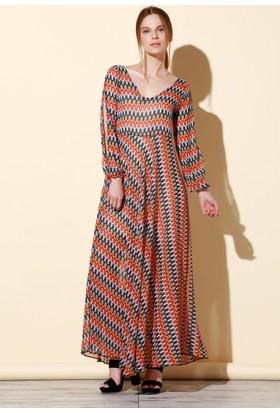 Quincey Şifon Elbise Kırmızı EB2457
