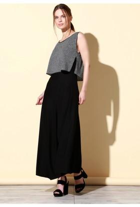 Quincey Viskon Elbise Siyah EB2481