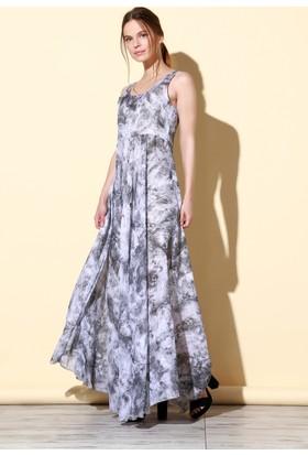Quincey Pamuklu Elbise Gri EB2458