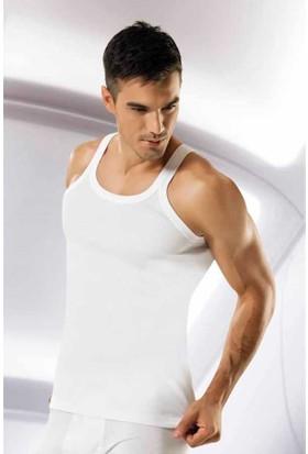 Namaldı İnce Askılı Erkek Atlet - 122-Beyaz