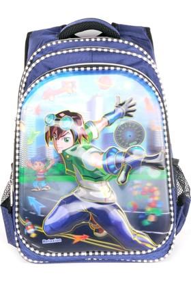 Sailor 7253 7D Kabartmalı Okul Sırt Çantası