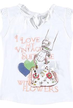 Kanz Kız Çocuk 163-4391B Kısa Kollu Elbise
