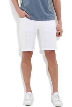 Mavi Erkek Brian Comfort Beyaz Jean Şort