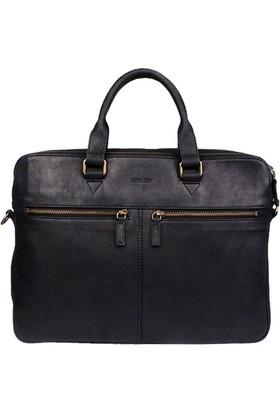 John May Black Gu-6872 Leather John May Çanta
