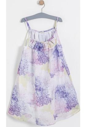 Soobe Monets Garden Askılı Elbise Beyaz