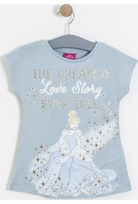 Soobe Lisanslı Disney Cinderella Kısa Kol Tunik Mavi