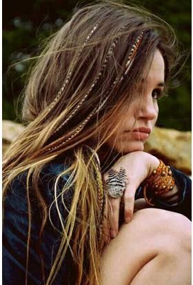 Wildlebend Hair Feather Sülün Saç Tüyü