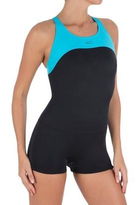 NBJ Kadın Şortlu Yüzücü Mayosu Y Sırt Kesim
