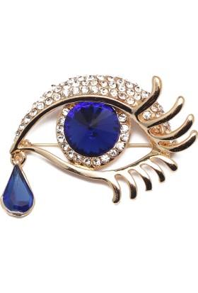 Modex Mavi Gözyaşı Broş