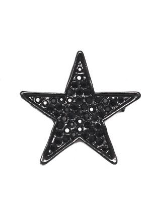 Modex Siyah Yıldız Broş