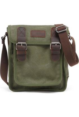 Muchuan Kanvas Postacı Çanta Haki Yeşil