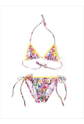 Ayyıldız Kız Çocuk Klasik Üçgen Bikini