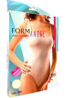 Form Angel Çitçitli Slip Body Korse Ten Kod:5004