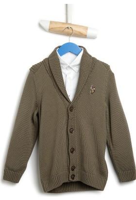 U.S. Polo Assn. Erkek Çocuk Alden Hırka Yeşil