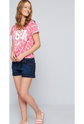 U.S. Polo Assn. Kadın Gamon T-Shirt Pembe