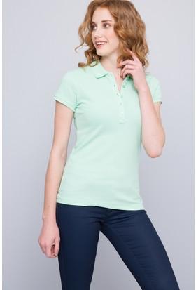 U.S. Polo Assn. Kadın Gtp-Iy07 Polo T-Shirt Yeşil
