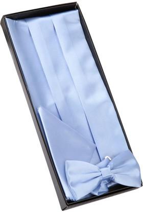 La Pescara Açık Mavi Papyon Kuşak Smokik Kemeri Smk51