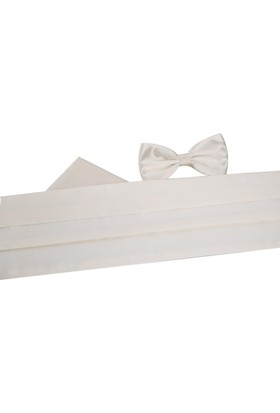 La Pescara Beyaz Papyon Kuşak Smokik Kemeri Smk53