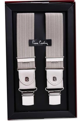 Pierre Cardin Krem Çizgili Pantolon Askısı Pa39