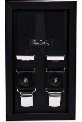 Pierre Cardin Siyah Çizgili Pantolon Askısı Pa40