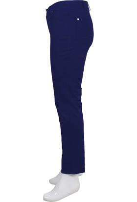 Ruşetül Cotton Kadın Büyük Beden Pantolon Lacivert