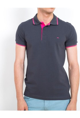 Cazador Polo Yaka Slim Fit T-Shirt Antrasit 4614