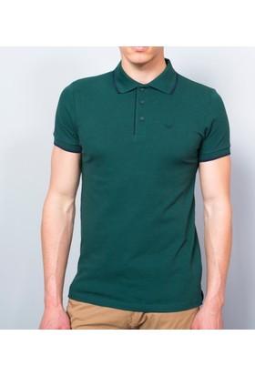 Cazador Polo Yaka Slim Fit T-Shirt Petrol 4614