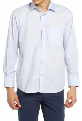 Aln Açık Mavi Klasik Kesim Düz Renk Uzun Kol Erkek Gömlek - 950-3