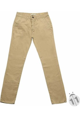 Baruğ Kum Bej Kumaş Kesim Slim Fit Erkek Chino Keten Pantolon - 042Rafael-Kum