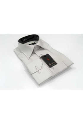 Dicotto Açık Gri Klasik Kesim Uzun Kol Düz Renk Erkek Gömlek - 150-29