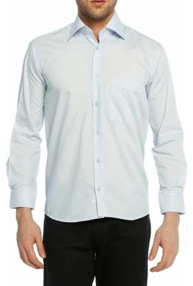 Dicotto Açık Mavi Klasik Kesim Uzun Kol Düz Renk Erkek Gömlek - 150-3