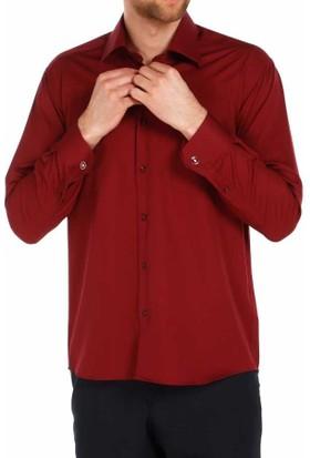 Dicotto Bordo Klasik Kesim Micro Kumaş Kol Düğmeli Erkek Gömlek - 190-13