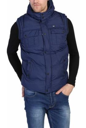 Dynamo Rahat Kesim Kapşonlu Kışlık Spor Erkek Şişme Yelek - 4270-İndigo