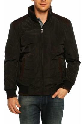 Dynamo Siyah Bondit Kumaş Klasik Erkek Kışlık Mont - 3720-Siyah