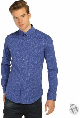 Mcl Japon Style Dar Kesim Likralı Erkek Spor Gömlek - 25545-Saks