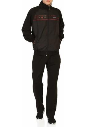 Scour Önü Mikro Kaplamalı Likralı Penye Erkek Eşofman Takım -Scour-5716-Siyah
