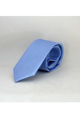 GaffyAçık Mavi Çocuk Boy Düz Renk Saten Kravat - Ck-36