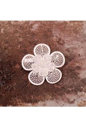 Sümer Telkari Telkari Örme El Yapımı Gümüş Broş 95