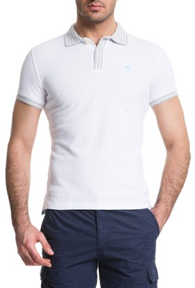 Cacharel Outlet Polo Yaka T-Shirt Beyaz