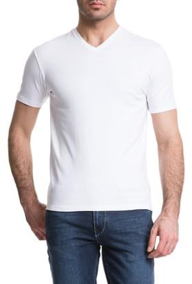 Cacharel Abal V Yaka T-Shirt Beyaz