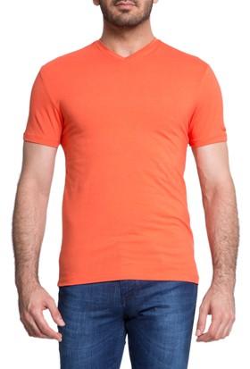 Cacharel V Yaka T-Shirt Kırmızı