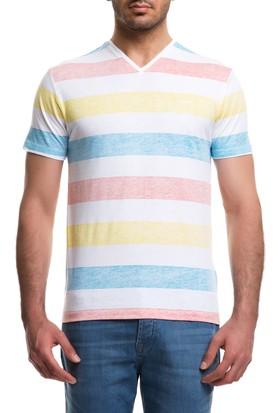 Cacharel Yek V Yaka T-Shirt Beyaz