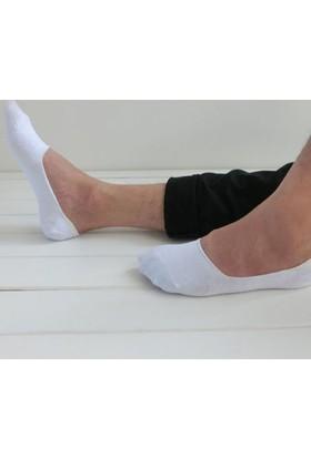 Paktaş Pamuklu Micro Silikon 2'li Erkek Babet Çorabı Beyaz