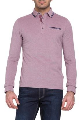 Cacharel John Polo Yaka Sweatshirt Kırmızı