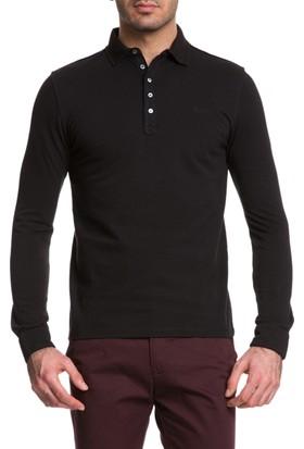 Cacharel Joker Polo Yaka Sweatshirt Siyah