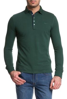 Cacharel Joker Polo Yaka Sweatshirt Yeşil