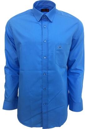 Robe Di Kappa Erkek Modern Fit Gömlek Koyu Mavi