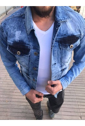 Oksit Enerjin Vintage Jean Jacket-Mavi